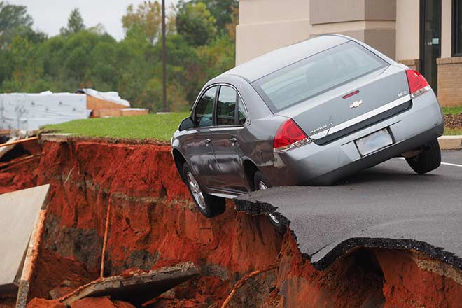 sinkhole vs. catastrophic ground collapse coverage