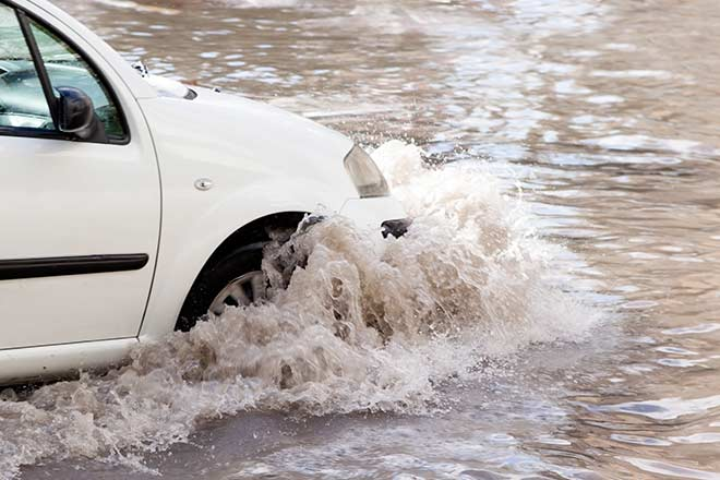water damage is covered by car insurance